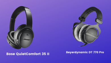 Beyerdynamic DT 770 Pro vs Bose QuietComfort 35 II