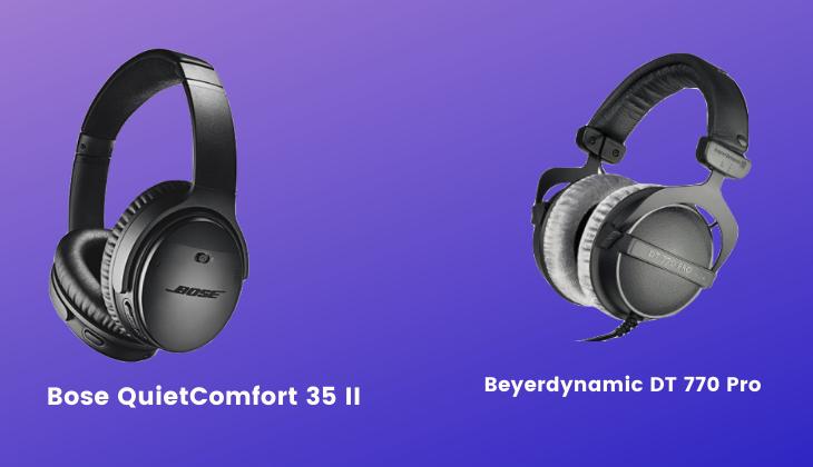 Beyerdynamic DT 770 Pro vs Bose QuietComfort 35 II