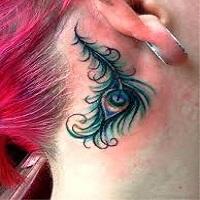 unique peacock tattoos